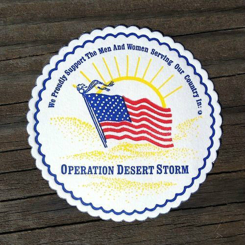 DESERT STORM Military Paper Coasters 1990s