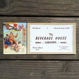 BEVERAGE HOUSE LIQUORS Clean Up Ink Blotter 1950s