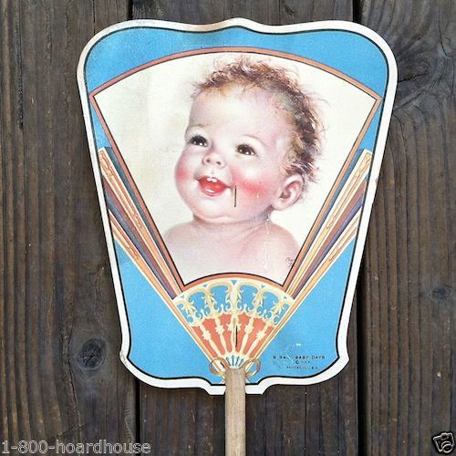 BABY DAYS Amusement Park Advertising Fan 1930s