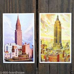 EMPIRE STATE & RCA Building Postcards 1929-33
