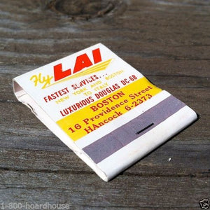 LAI AIRLINES Matchbook Matches 1960s