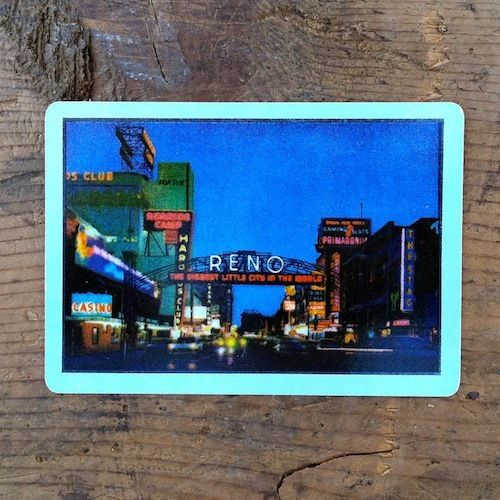 RENO NEVADA Playing Card