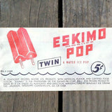 ESKIMO POP TWIN Popsicle Bar Bag 1940s
