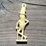 MR. PEANUT Fan Pull Toy 1940s