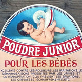 POUDRE JUNIOR French Baby Powder Poster 1910s