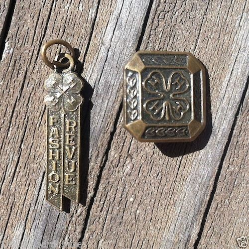 4H CLUB Fashion Revue Charm Pin 1940s
