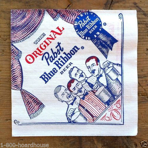 PABST BLUE RIBBON BEER Paper Napkins 1950s
