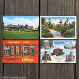 OHIO Linen Postcards 1930s