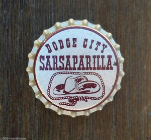 DODGE CITY SARSAPARILLA Soda Bottle Cap 1940s