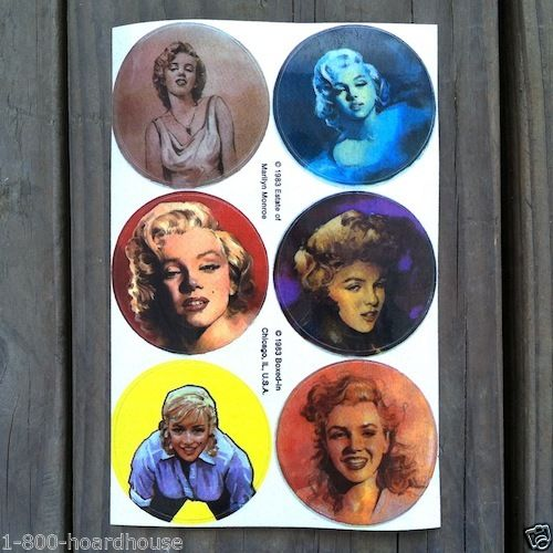 Original MARILYN MONROE Sexy Pinup STICKERS