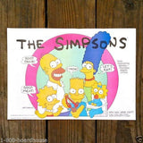 THE SIMPSONS Cartoon Promotional Paper Placemat 1990s