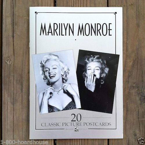 MARILYN MONROE POSTCARD Book 20 Classic Cards