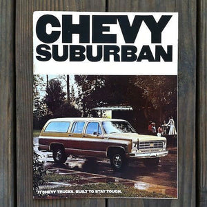 CHEVY SUBURBAN Catalog Magazine 1977