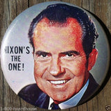 NIXON'S THE ONE Political Campaign Pin Button 1968