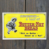 BUTTER-NUT BREAD Store Window Decal 1920s