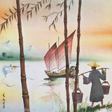 CHINESE DRAGON BOAT 1955 Advertising Calendar