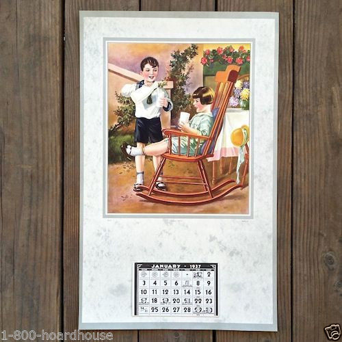 A REAL TREAT Promotional Grocery Store Calendar 1937