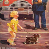 CROSSING ETIQUETTE Safety Policeman Calendar 1950s