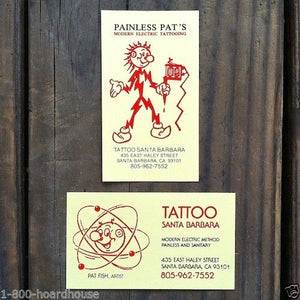 REDDY KILOWATT Tattoo Parlor Business Cards 1990s