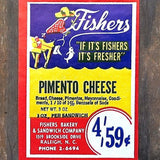 FISHERS PIMIENTO CHEESE Merchandise Labels 1930s