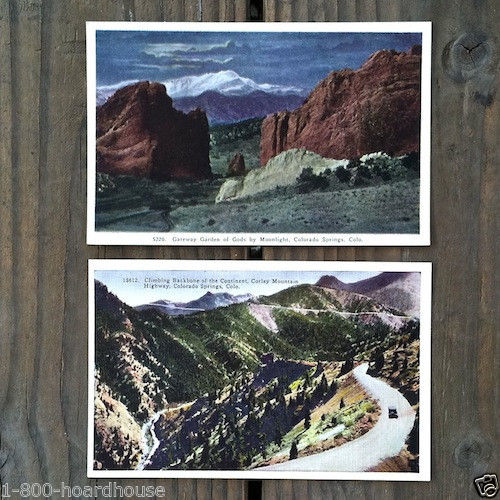 COLORADO Linen Postcards 1910s