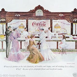 COCA-COLA SODA FOUNTAIN Print 1960s