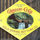 QUEEN COLA Soda Bottle Label 1905
