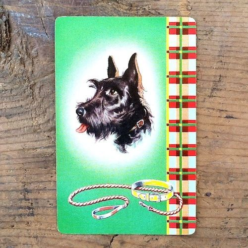 SCOTTIE DOG Playing Card