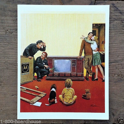MOTOROLA TV Greeting Card 1970s