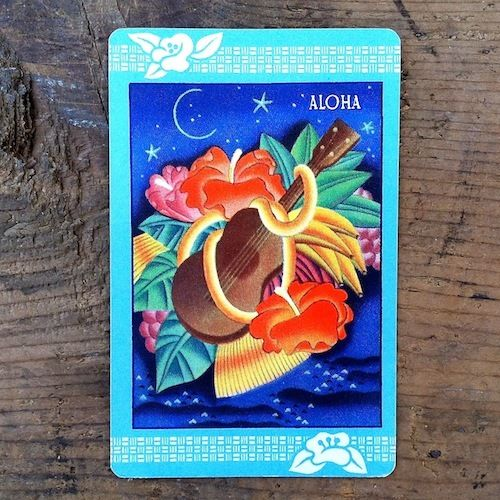 ALOHA HAWAII HAWAIIAN FLORAL Playing Card