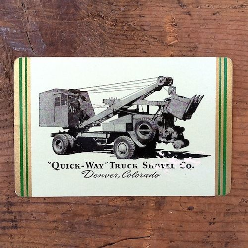QUICK-WAY SHOVEL TRUCK Playing Card