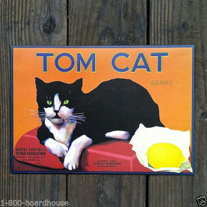 TOM CAT Citrus Crate Box Labels 1970s