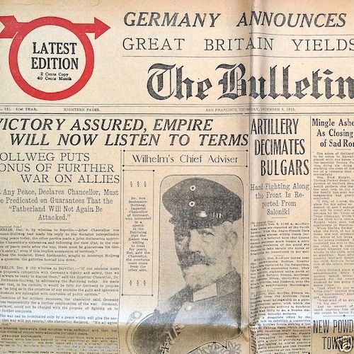 THE BULLETIN San Francisco Newspaper 1915