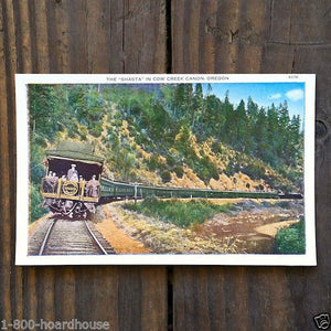 SHASTA PASSENGER Railroad Train Postcard 1910