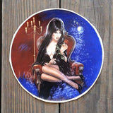 ELVIRA MISTRESS OF THE DARK Round Decal 1988