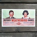 ETERS WEATHERBIRD SHOES Happy Days Ink Blotter 1940s