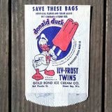 Donald Duck ICY FROST POPSICLE Snack Bag 1950s