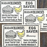 MADAM BLUMERS Egg Saver Envelope 1910s