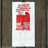 MARK OF THE DEVIL Movie Theatre Vomit Bag 1960s