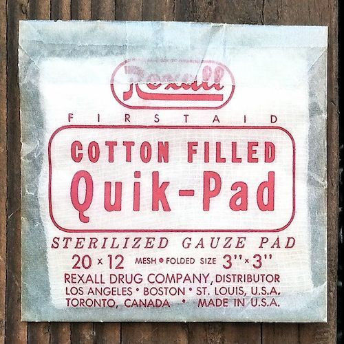 4 Vintage Original REXALL DRUG RX PHARMACY Medical Cotton Pads in Old Packs NOS