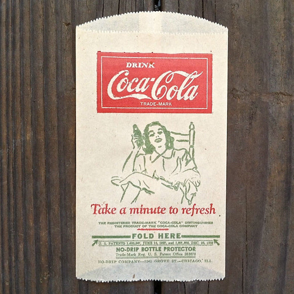 COCA COLA Coke Bottle PROTECTOR Minute Refresh 1932