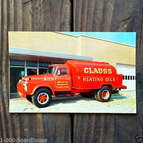 CLAUSS HEATING OIL Postcard 1950s