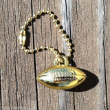 FOOTBALL Gold Tone keychain 1950s