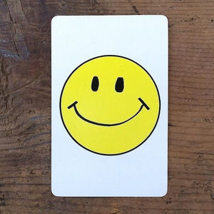 SMILING SMILEY FACE Playing Card