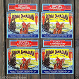 ROYAL CANADIAN Soda Bottle Label Collection 1940s