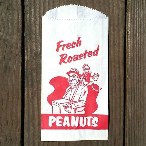 10 FRESH ROASTED PEANUTS Snack Bags 1940s