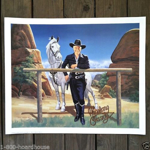 HOPALONG CASSIDY and TOPPER Color Movie Promo Poster 1990s