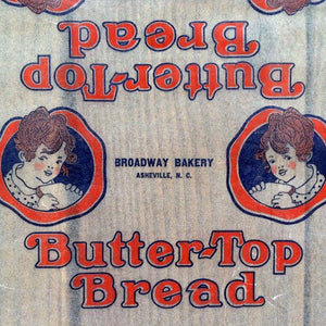 BUTTER-TOP BREAD Loaf Wrapper 1930s