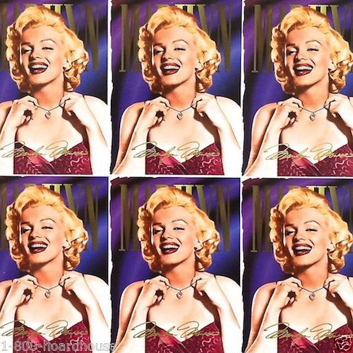 MARILYN MONROE TRADE CARD Proof 1960s Sign