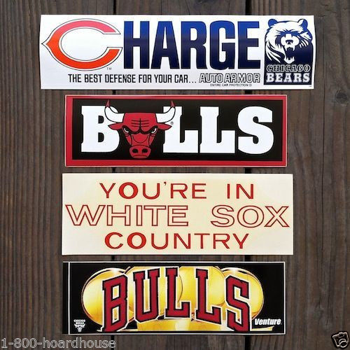 CHICAGO SPORTS TEAM Bumper Stickers